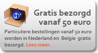 Geen verzendkosten bij bestellingen boven 50 euro!